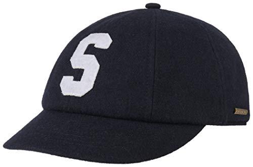 Stetson Iconic S Wool Cap Wollcap Wintercap Baseballcap Basecap Damen - Made in The EU mit Schirm, Futter, Futter Herbst-Winter (59/L, 2 - Dunkelblau)