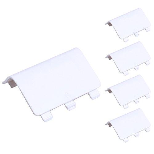 Demiawaking Batterie Abdeckung Tür Deckel Shell Ersatz für Xbox One Wireless Controller (Weiss)