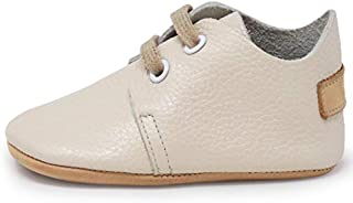 Ella Bonna Mini Baby Oxford Shoes | Cowhide, Full Grain Leather Sole | Flexible | Handmade Designer Moccasins | for Boys Girls Toddlers
