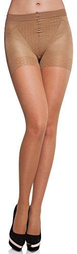 Merry Style Medias Reductoras Finas Panty Lencería Sexy Mujer MS 127 20 DEN (Gazele, L)