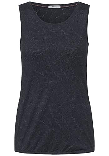 Cecil Damen 316458 T-Shirt, Carbon Grey, L