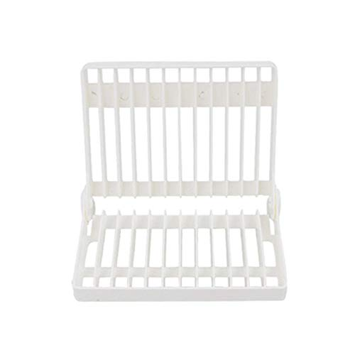 Kitchen Foldable Dish Rack Stand Holder Bowl Plate Organizer Tray Drainer Shelf For Tableware Kitchen Accessories Storage Rack (Color : White)