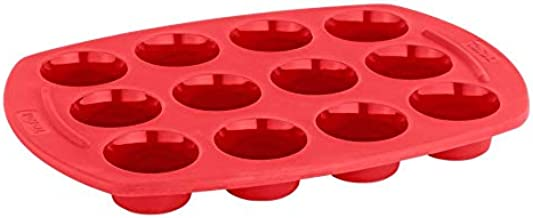 Tefal Proflex 12 Mini Muffins Bakeware, J4092154, Red, Silicone
