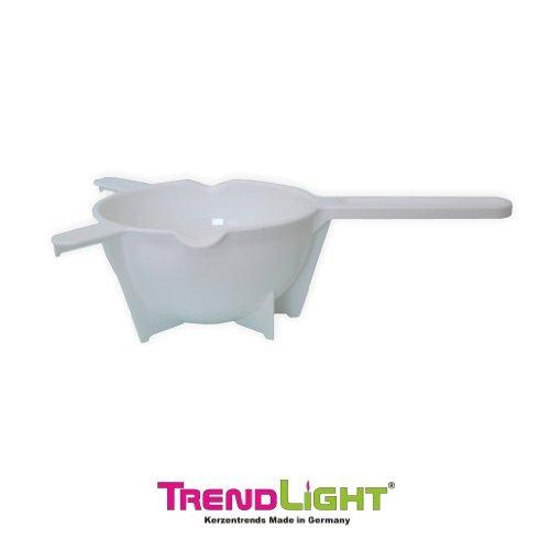 Wachs Schmelzkelle weiss 25x14 cm ideal zum Kerzen, Seife, Schokolade einschmelzen oder gießen