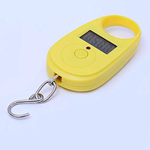 25 kg herramienta de medición led cocina hogar gancho para equipaje colgante balanza electrónica retroiluminación pantalla digital multifuncional mini bolsillo amarillo