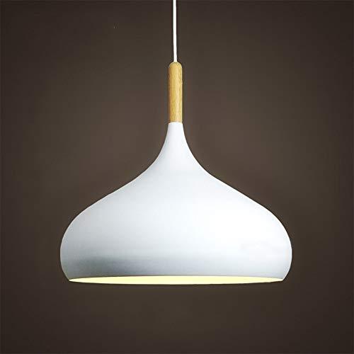 Mengjay E27 Industrial colgante Lámpara colgante, Las luces del techo, Iluminación interior, MAX.60W,Cortinas de la lámpara Retro lámpara de techo,Colgante de metal Lámparas de araña(Blanco)