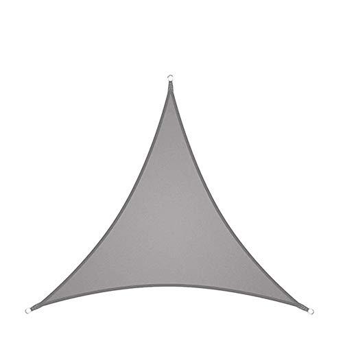 Yuan Ou Vela de Sombra Toldos Impermeables Exterior Triángulo Al Aire Libre Protección Impermeable Al Aire Libre Jardín Patio Piscina 400cmx400cmx400cm Gris 2