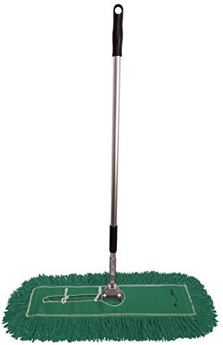 Dust Mop Kit 24': (1) 24' Green Industrial Closed-Loop Dust Mop, (1) 24' Wire Dust Mop Frame & (1) Ergonomic Dust Mop Handle