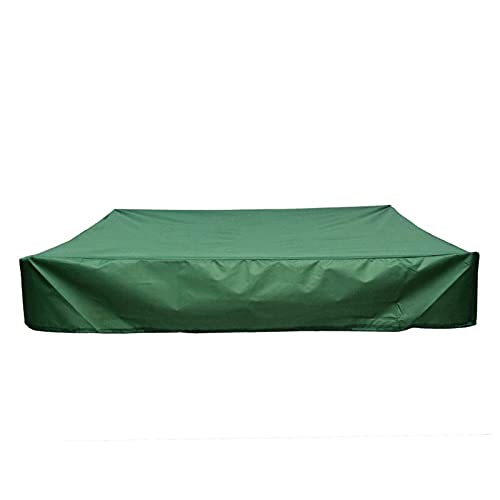 XHDZSW Sandbox Cover Square Waterproof Sand Pit Cover Dustproof Protection ,Sandbox Cover , with Drawstring Waterproof Dustproof UV Protection (Green,200 x 200 cm)