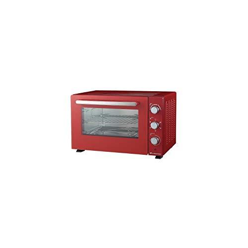 CONTINENTAL EDISON cemf46r2 - minifour électrique 46l Rouge - 1500w - rotissoire, Chaleur tournante