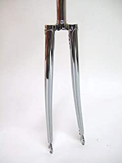 KiloTTTrackfork 1 Inch Track Bike Road Fork Steel Threadless Steer Tube Uncut in Chrome