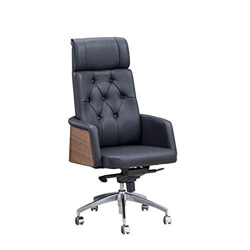 HMBB Sillas de Escritorio, Sillas de oficina jefe del Ministerio del Interior sillas de escritorio de cuero silla de oficina, silla de la computadora principal, giratorio, altura ajustable, con brazos