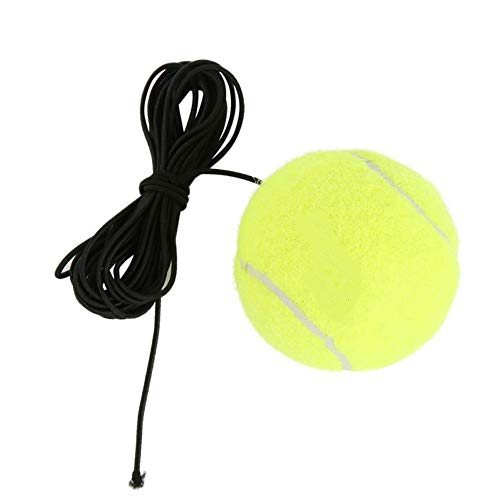 super1798 Home Elastic Rubber Band Tennis Ball Single Practice Training Belt Line Cord Sports Tool