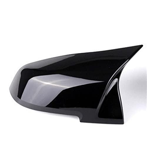 SFUO 2 Piezas Retrovisor Espejo Cubierta Tapa Fuego Negro Ajuste para La Serie BMW 1 2 3 4 X M 220i 328i 420i F20 F21 F22 F23 F30 F32 F33 F36 X1 (Color : Black Left)