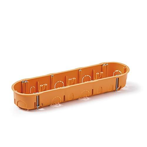 Famatel 3261 Caja empotrar para mecanismos | Cuádruple | 67x45 mm | Naranja