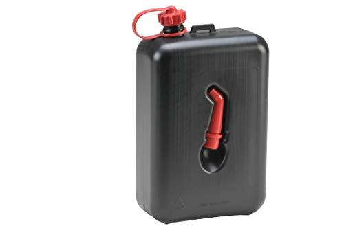 hünersdorff 810200 Kraftstoff-Kanister STANDARD 2l, Ersatzkanister für Motorräder, integrierte Auslauftülle, HD-PE, made in Germany, TÜV-geprüfter Produktion, schwarz
