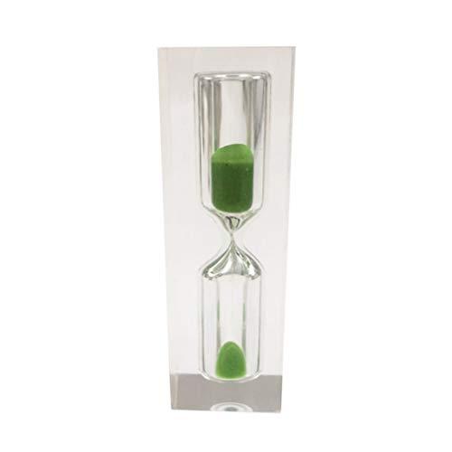 Supvox kristall Sand Timer 3 Minuten Kunststoff Sand Timer Party Decor Kinder Dekoration (grün)