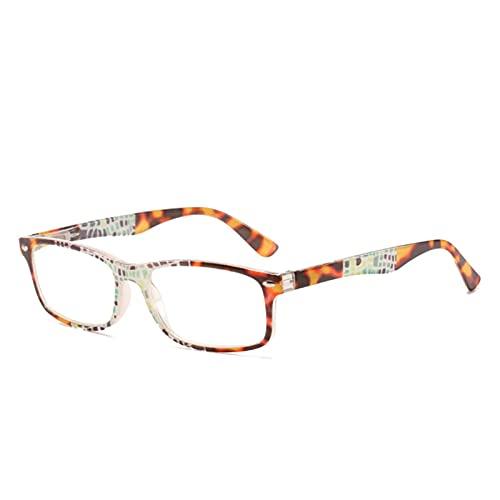 XWYZY Gafas de Lectura, Anti Blue Ray Mujeres Hombres Lectura Empalme Empalme Blases Presbiliares Dos Color Marco de Moda HD Lente Transparente (Color : +200, Size : C3)