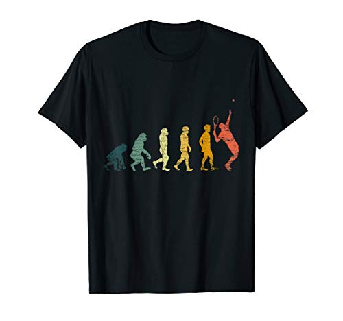 Tennisspieler Geschenk Retro Evolution Tennis T-Shirt