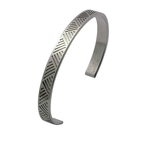 Arfasatti Pulsera rígida para hombre, de plata 925, hecha a mano