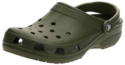 Crocs Classic U, Zuecos con Correa Trasera Unisex Adulto, Army Green, 46/47 EU