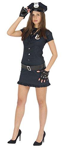 Foxxeo Sexy Polizistin Kostüm für Damen zu Karneval Fasching Polizei Motto-Party Größe M
