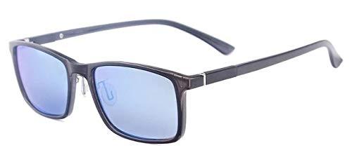ZAQXSW Hombres Mujeres TR90 Ligero del rectángulo de Moda de conducción Gafas de Sol polarizadas de Venta con Receta for Lentes miopía progresiva, Lentes de Colores (Color : A)