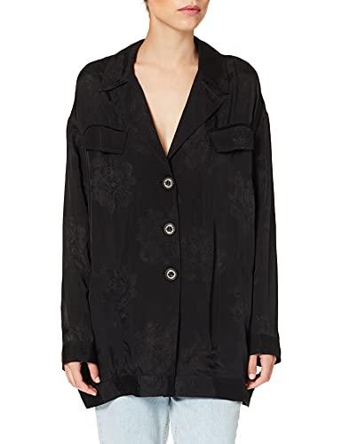 Pinko GONGOLONE Field Jacket Blazer, Z99_Nero Limousine, 46 para Mujer