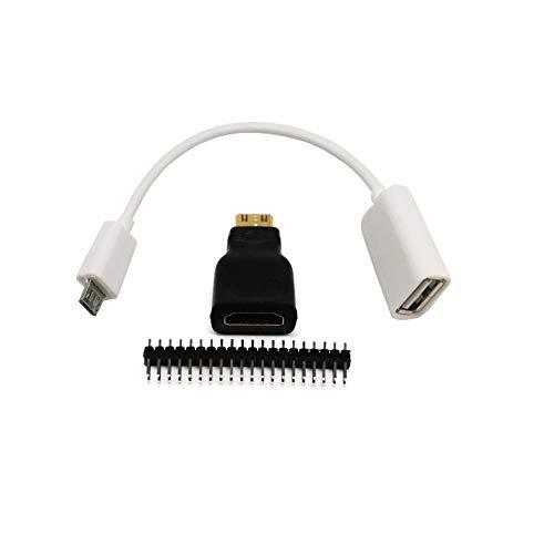 N / E Kit de adaptador 3 en 1 para Raspberry Pi Zero Mini-Hdmi a HDMI Micro USB hembra
