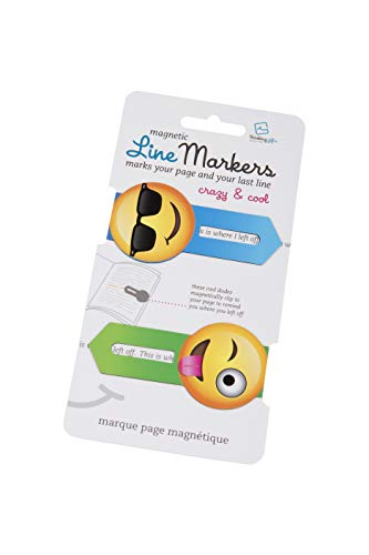 Line Markers Crazy&Cool - Magnetische Lesezeichen: 2er Set Motiv Emoji [Lingua tedesca]