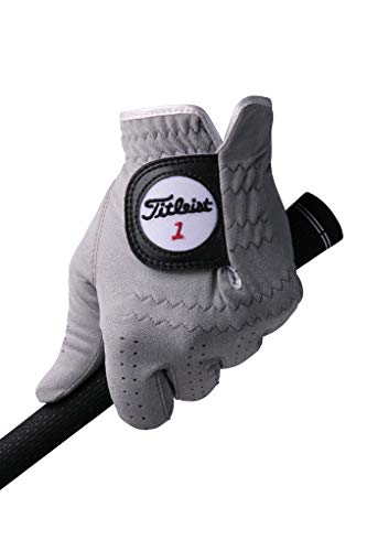 TITLEIST (Professional TECH handschoen van kunstleer voor mannen voor één linker TG56GY-21 rechtshandige grijs 21 cm voor