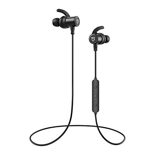 Auriculares Bluetooth 5.0 SoundPEATS Q30HD Cascos Deportivos Magnéticos In-Ear Inalámbricos con Mic, Duración 8 Horas para iPad, iOS Android Móviles Smartphones PC (Negro)
