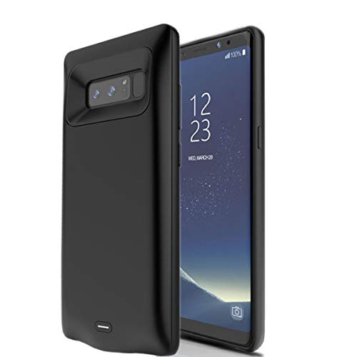 Beseller Upgrade Battery Case for Galaxy Note 8, 5500mAh External Battery Charger Rechargeable Battery Pack Protective Case for Samsung Note 8 (Black)
