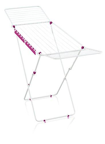 Leifheit Standtrockner Classic 200 Easy, Color Edition sweet pink, Wäscheständer mit 20m Trockenlänge für 2 Waschmaschinenladungen, mit Flügeln für lange Wäschestücke, platzsparender Wäschetrockner