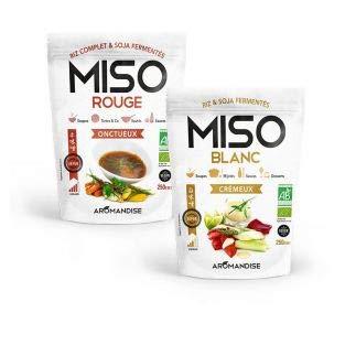 Aromandise Miso Bianco 250 g e Miso Rosso 250 g