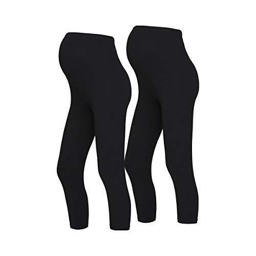 Mamalicious Mllea Org 3/4 Legging 2pack A. O, Noir, S Femme