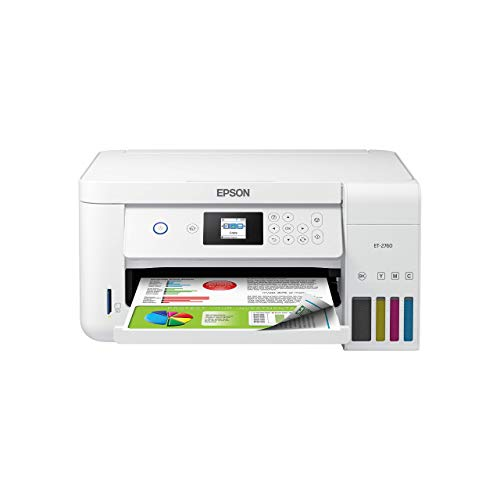 Epson EcoTank ET-2760 Wireless Color All-in-One Cartridge-Free Supertank Printer with Scanner and Copier (Renewed)