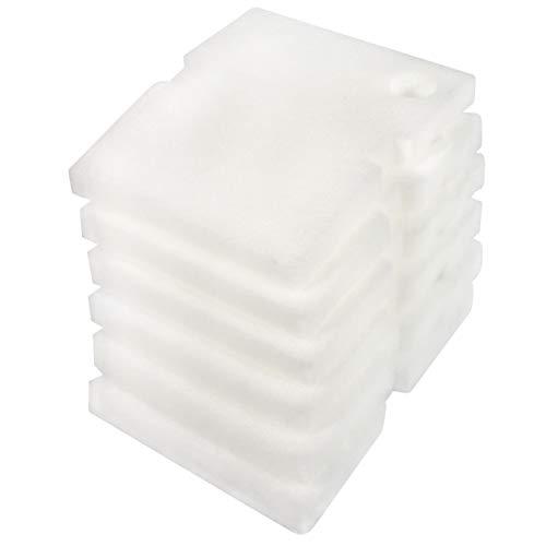 LTWHOME Compatible en Mousse Blanc Excellent Filtre Média Convient pour Hydor Professionnel Boîte Filtre 450/600(Paquet de 6)