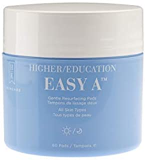 Higher Education Skincare: Easy A - Gentle Exfoliating Pads That Help Remove Dead Skin Cells, Replenish Moisture, and Visibly Minimize Pore Size - 60 ct.