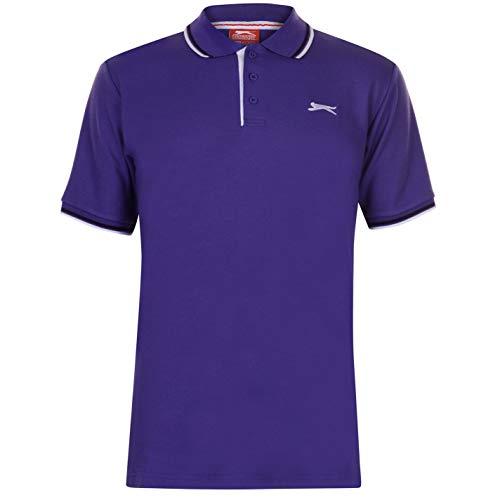 Slazenger Tipped Herren Polo Poloshirt T Shirt Kurzarm Classic Fit Tee Top XS