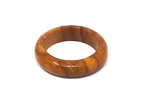 Anello in vero legno d'ulivo - fatto a mano - 18mm - gioielli in legno - gioielli in legno d'ulivo - anche come pendente