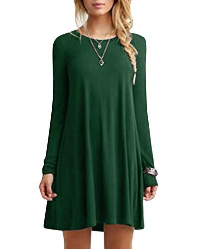 YOINS damkläder tunika t-shirt klänning långärmad minikjol vinterklänning för kvinnor brudklänning maxikleid rund hals