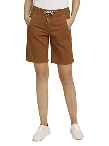 TOM TAILOR Damen 1026100 Chino Bermuda Shorts, 12828-Caramel Brown, 40