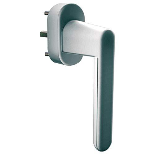 Schellenberg 46510 veiligheidsgreep alarmsysteem grijs zilver voor ramen, balkondeuren en terras - 32 mm