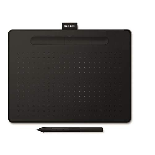 Wacom Intuos M Tavoletta Bluetooth Nera con Penna - Tavoletta Grafica Wireless per dipingere, disegnare ed editare foto con 3 software creativi inclusi da scaricare *, compatibile con Windows & Mac