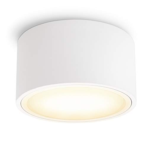 SSC-LUXon CELI-X Aufbauleuchte LED flach mit schöner Lichtfläche - LED GX53 warmweiß 3W 230V - Decken Aufbauspot weiß rund