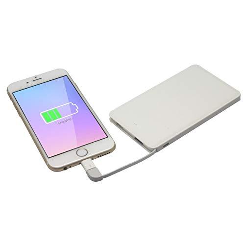 Muvit MWCHP0095 - Batería Externa 5000 mAh con Cable Micro-USB Incluido y Adaptador Lightning, Color Blanco