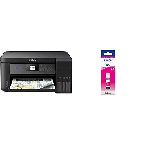 Epson EcoTank ET‑2750 5760 x 1440DPI Inyección de Tinta A4 33ppm Impresora multifunción + 102 Cartucho de Tinta para Impresoras