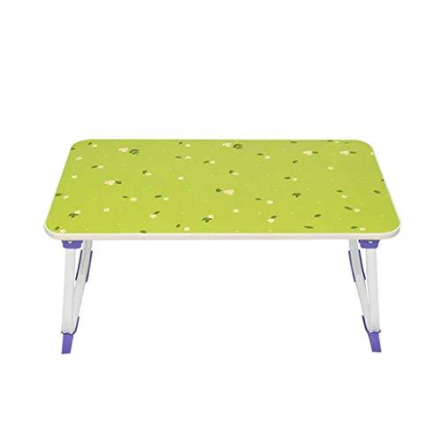 O&YQ Gateleg Tisch/Klapptisch Klapptisch Computertisch Einfaches Bett Schreibtisch Student Dormitory Lazy Table, Grünes Blumenmuster