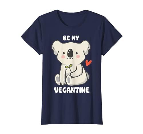 Damen Süßes Koala TShirt Für Veganer: Valentinstag Geschenkidee